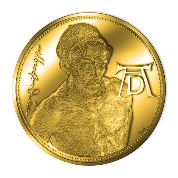 Sonderprägung Feingold 2021 – 550. Geburtstag Albrecht Dürer – Selbstbildnis als Akt