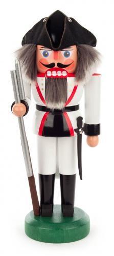 Nussknacker Französischer Soldat 27cm, weiß