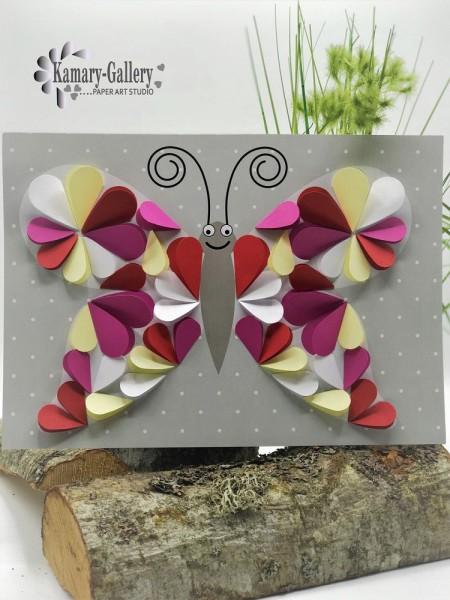 Basteln nach Zahlen - Schmetterling