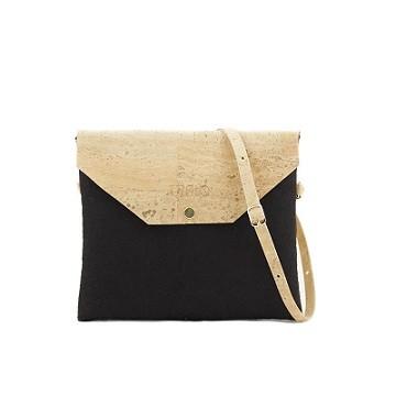 Handtasche Marila aus Kork   schwarz-natur