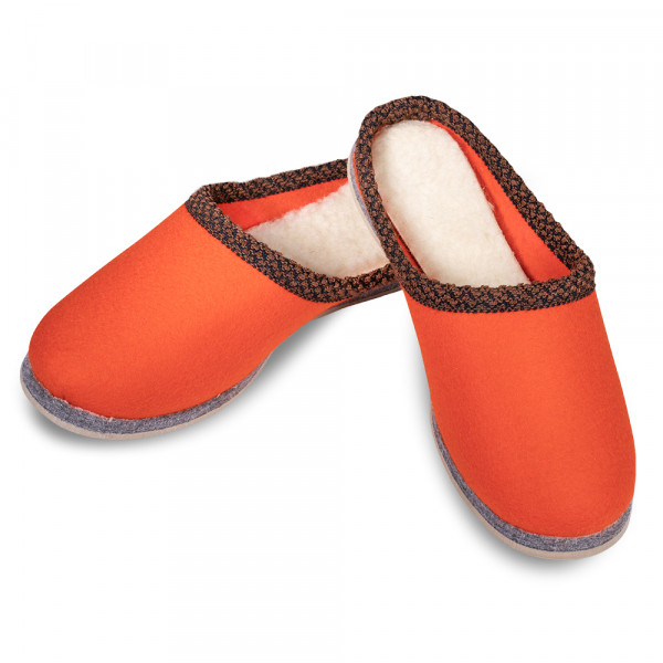 Filzpantoffeln orange