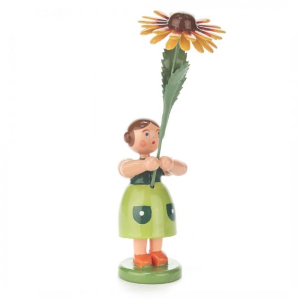 Blumenmädchen mit Kokardenblume