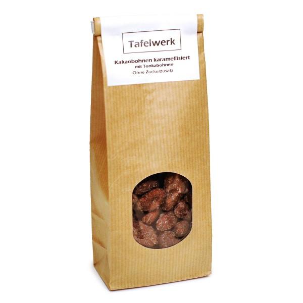 Kakaobohnen karamellisiert