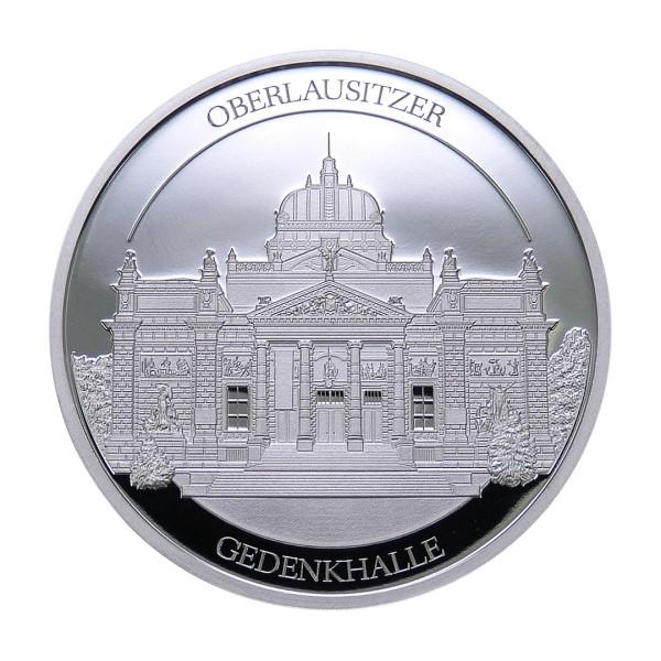 Sonderprägung Feinsilber 2020 – Schlesien Sammeledition – Oberlausitzer Gedenkhalle