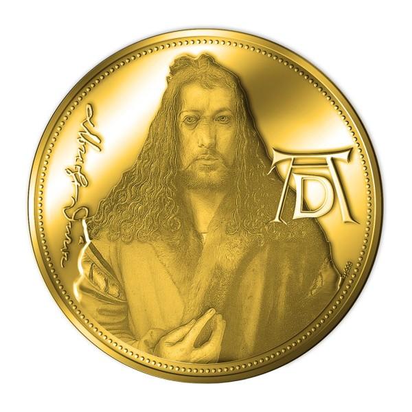 Sonderprägung Feingold 2021 – 550. Geburtstag Albrecht Dürer – Selbstbildnis im Pelzrock