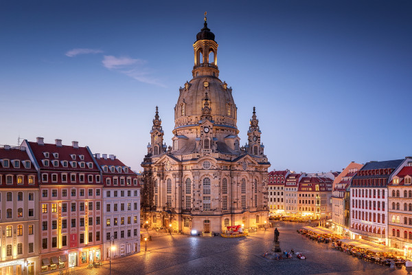 Wandbild Dresden - Frauenkirche zur Blauen Stunde (Motiv 00625)