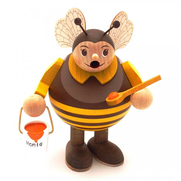 Mini-Kugelrauchfigur Biene