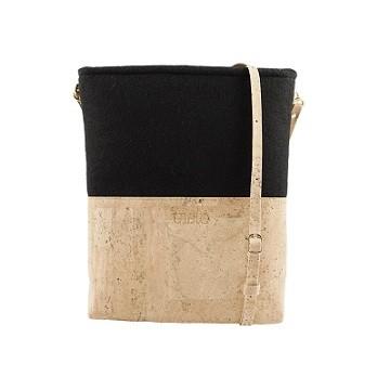 Handtasche Pectina aus Kork | schwarz-natur