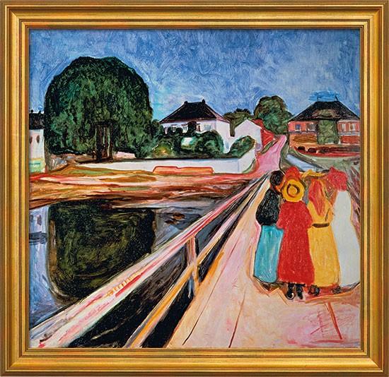 Edvard Munch: Bild Mädchengruppe auf einer Brücke (1902)