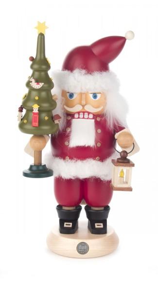 Nussknacker Weihnachtsmann rot 24cm mit Laterne und Weihnachtsbaum