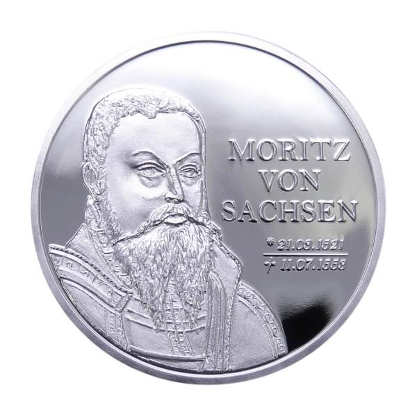 """Sonderprägung Feinsilber 3er-Set - """"500. Geburtstag Moritz von Sachsen"""""""