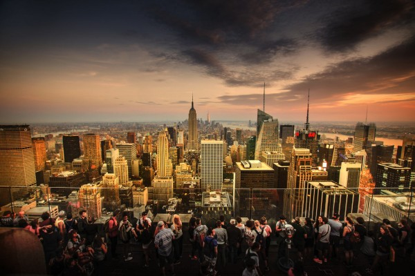 Wandbild New York - Abendstimmung beim Sonnenuntergang (Motiv JR04)