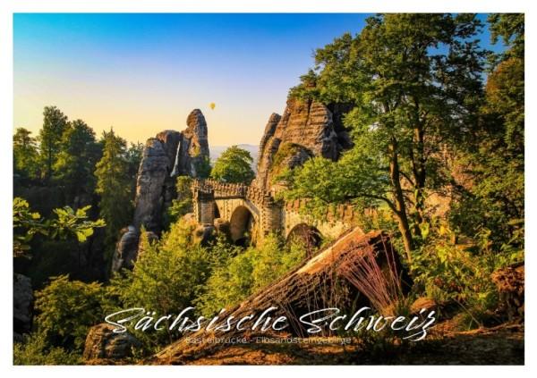Postkarte Sächsische Schweiz - Basteibrücke (Motiv PO_SSW_40)