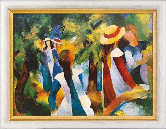 August Macke: Bild Mädchen unter Bäumen (1914)