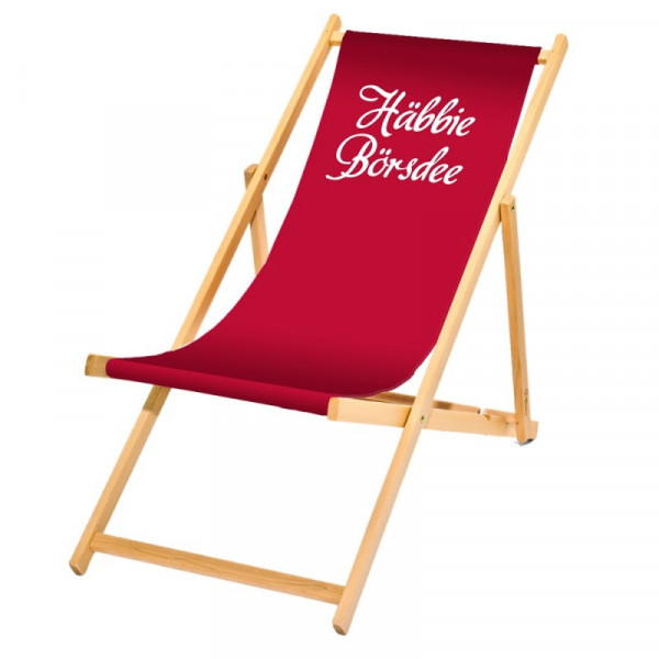 Holzliegestuhl Häbbie Börsdee
