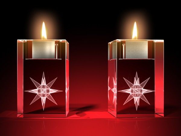 Advents-Teelicht Stern