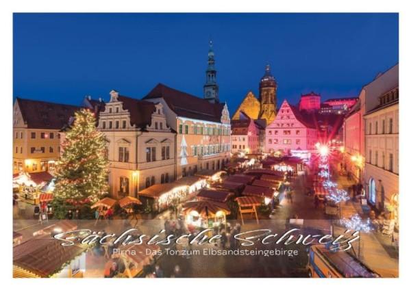 Postkarte Pirna - Marktplatz (Motiv PO_Pirna_68)