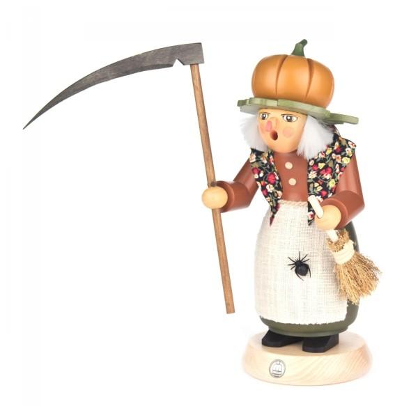 Räucherfrau Halloween-Hexe mit Kürbis