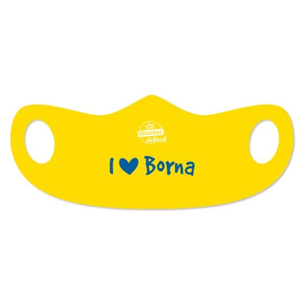 """Mund- u. Nasenmaske """"I love Borna"""""""