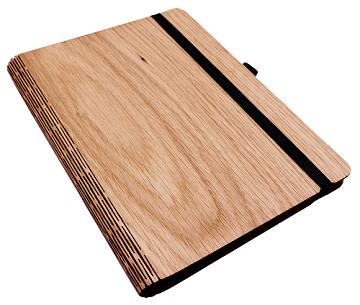 Notizbuch aus Holz - Eiche A5