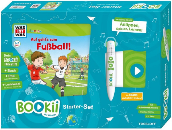 BOOKii® Starter-Set WAS IST WAS Junior Auf geht´s zum Fußball!