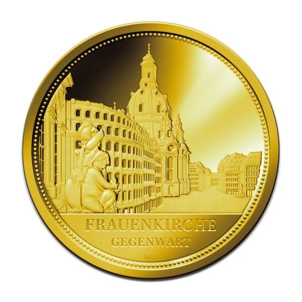 Sonderprägung Feingold - Dresden - Gegenwart