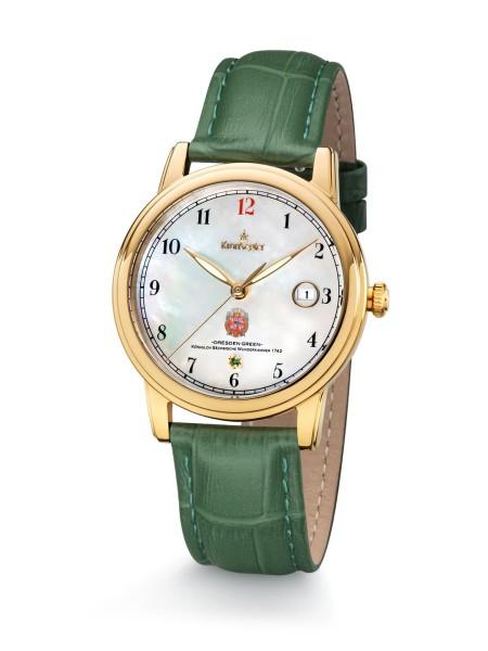 Dresden Green II - Gold / Perlmutt - Kronsegler Damen-Uhr