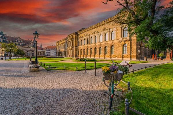 Wandbild Dresden - Die Gemäldegalerie (Motiv DMDD10)