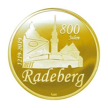 Sonderprägung Feingold - 800 Jahre Radeberg