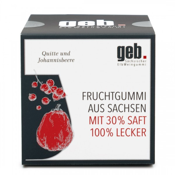 Fruchtgummi Quitte & Johannisbeergelee (alkoholfrei)