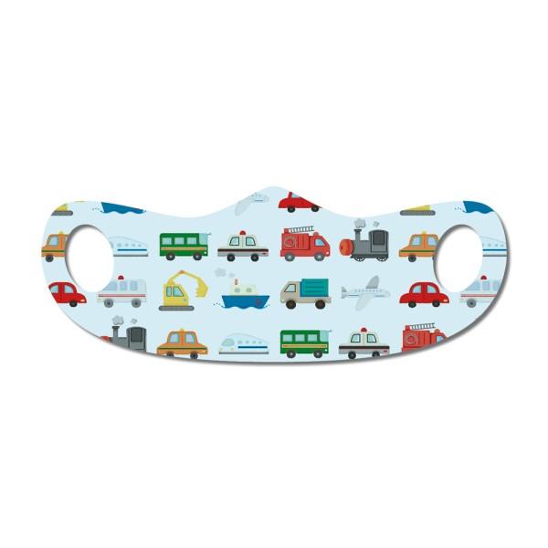 Mund- und Nasenmaske Autos für Kinder