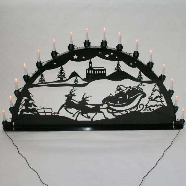 Schwibbogen Weihnachtsmann - 16er Lichterkette