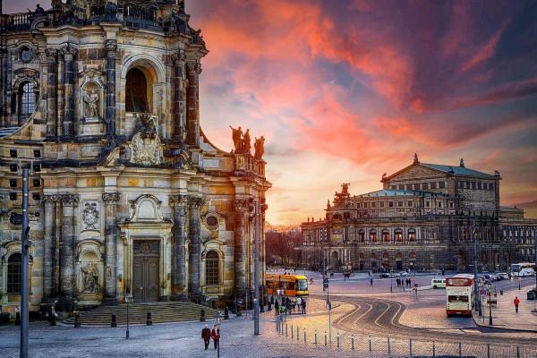 Wandbild Dresden - Die Semperoper (Motiv DMDD14)