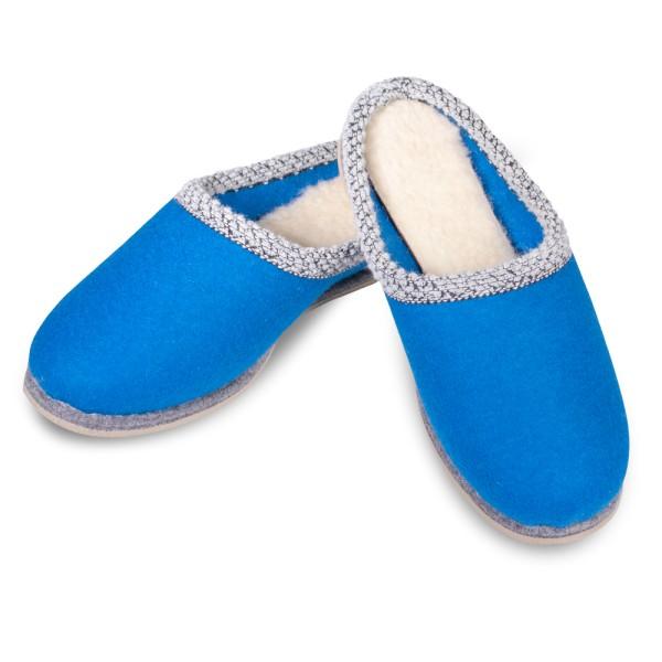 Filzpantoffel blau