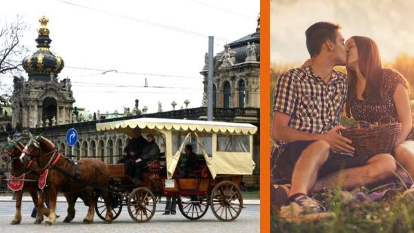 Kutschfahrt mit Candle Light Dinner in Dresden