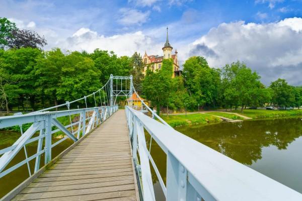 Wandbild Grimma - Hängebrücke Grimma (Motiv DMMTL07)