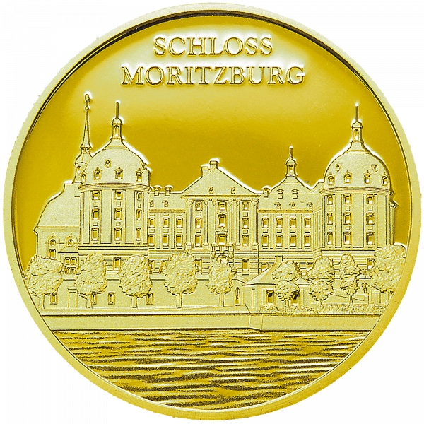Sonderprägung Feingold Schloss Moritzburg - Einzelmotiv