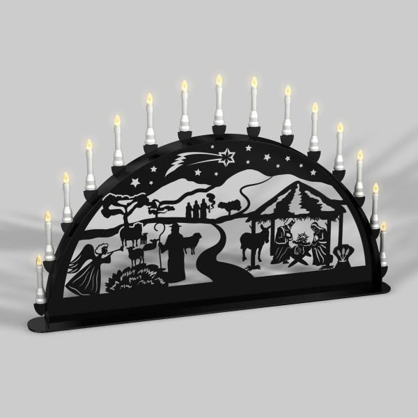 Schwibbogen Geburt Christus - 15er Lichterkette