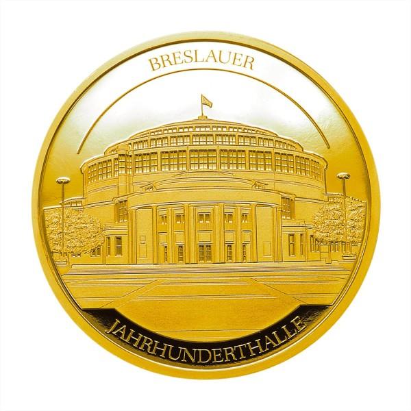 Sonderprägung Feingold 2020 – Schlesien Sammeledition – Breslauer Jahrhunderthalle