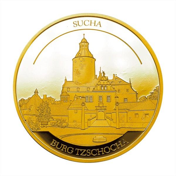 Sonderprägung Feingold 2021 – Schlesien Sammeledition – Burg Tzschocha