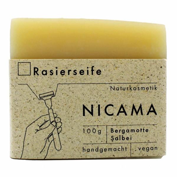 NICAMA Rasierseife Bergamotte-Salbei