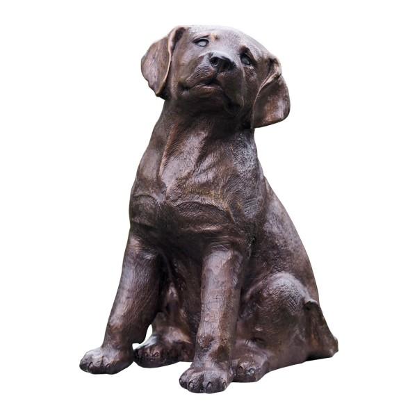 Gartenskulptur Hund Bronze