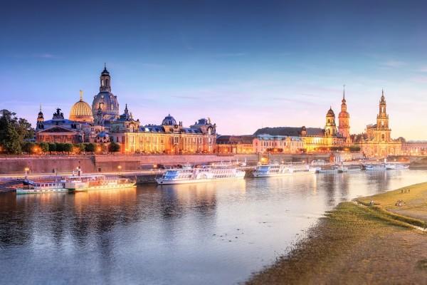 Wandbild Dresden - Skyline Panoramablick (Motiv 00545)