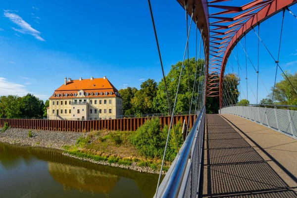 Wandbild Riesa - Die Schlossbrücke Gröba (Motiv DMRIE47)
