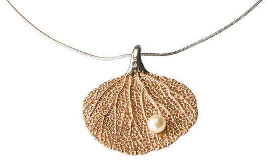 Collier Fächerkoralle mit Perle