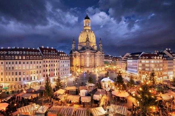 Wandbild Dresden - Weihnachten auf dem Neumarkt (Motiv 00653)
