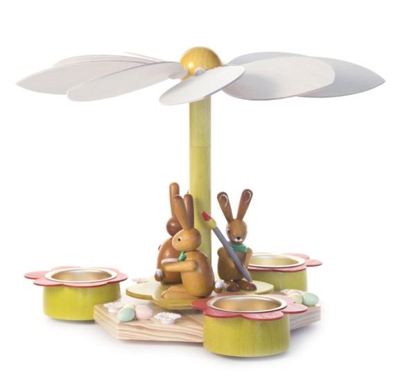Teelichtpyramide mit Hasen