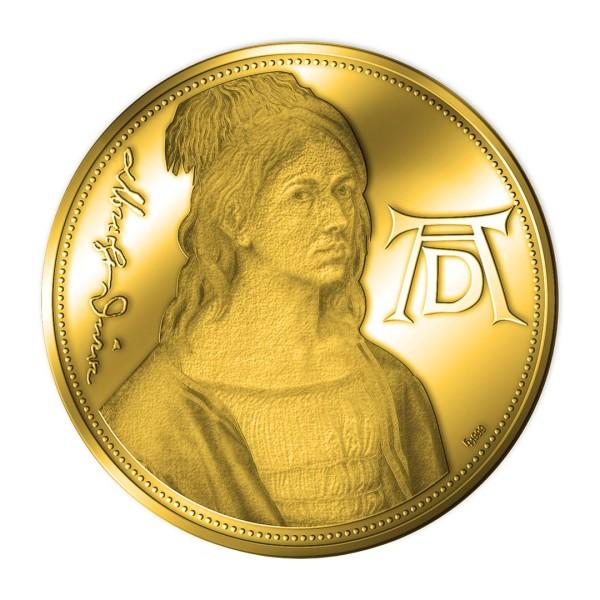 Sonderprägung Feingold 2021 – 550. Geburtstag Albrecht Dürer – Selbstbildnis des Eryngium