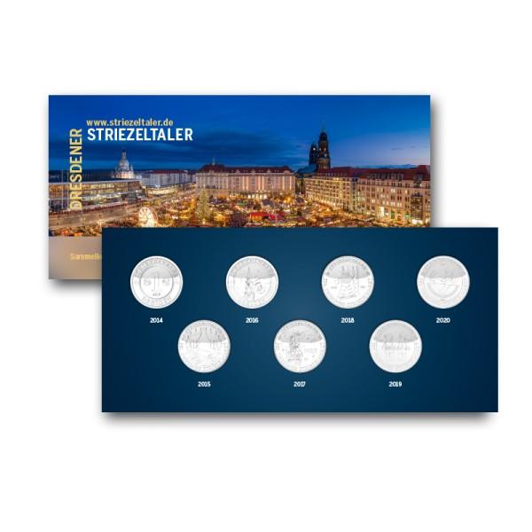 Dresdner Striezeltaler - Sammelkollektion mit 7 Talern (2014 - 2020)