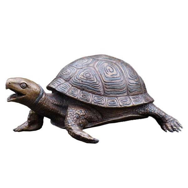 Gartenskulptur Wasserspeier Schildkröte Bronze